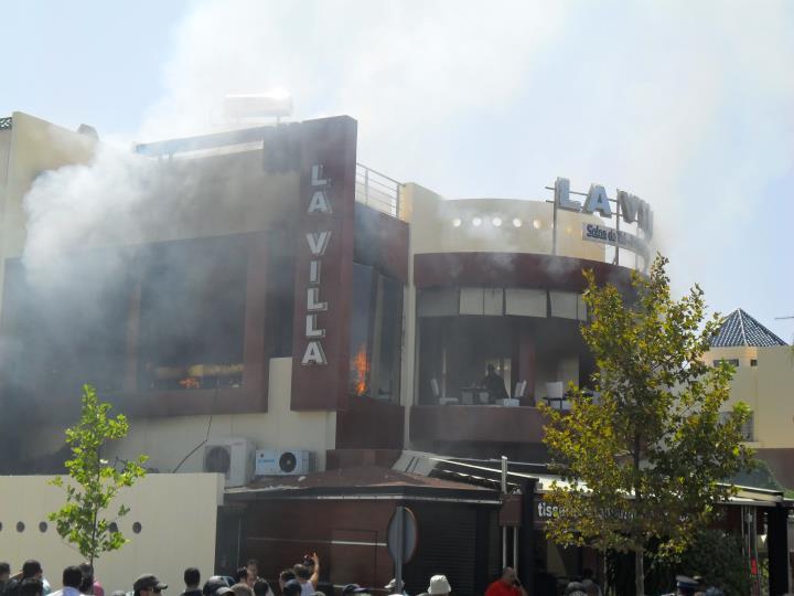 Explosion du café LA VILLA de Fès causée par une bonbonne de gaz