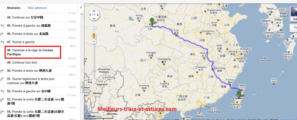 Google-Maps-Chine-Taiwan